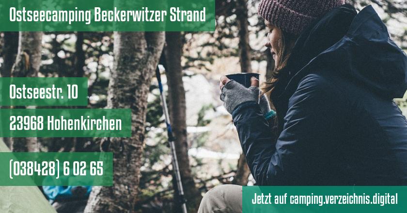 Ostseecamping Beckerwitzer Strand auf camping.verzeichnis.digital