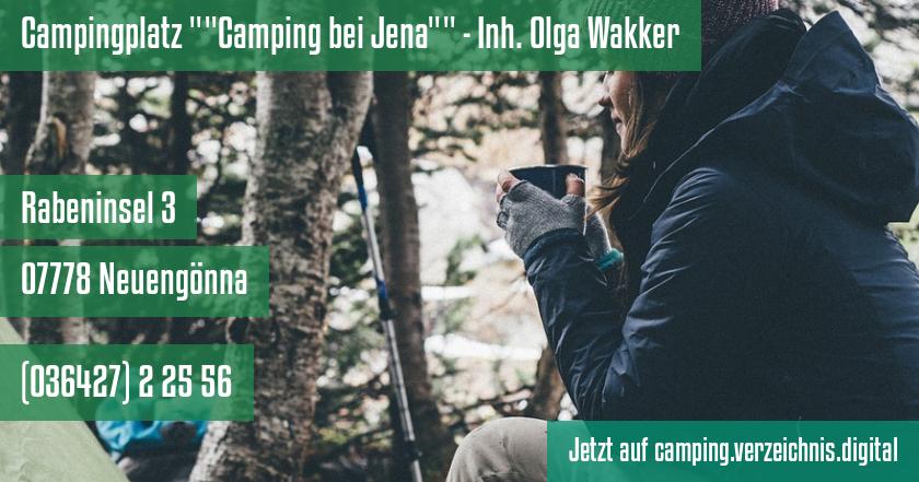 Campingplatz Camping bei Jena - Inh. Olga Wakker auf camping.verzeichnis.digital
