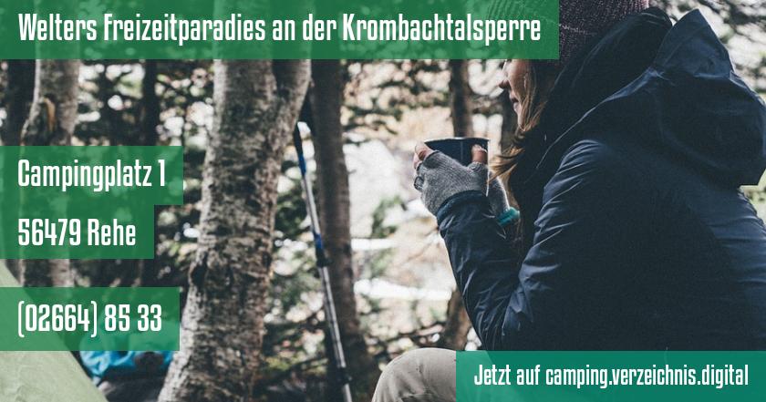 Welters Freizeitparadies an der Krombachtalsperre auf camping.verzeichnis.digital