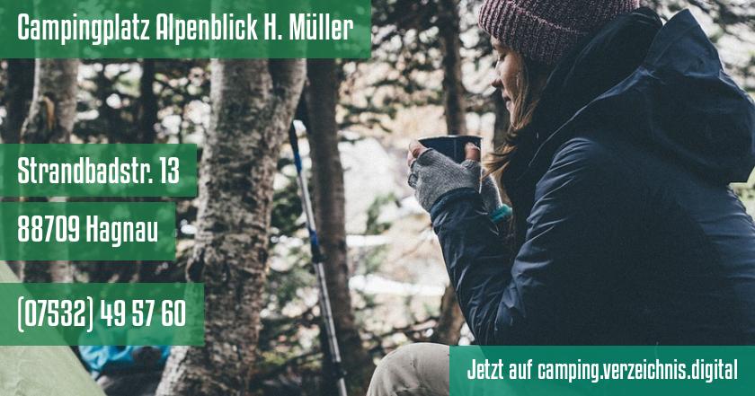 Campingplatz Alpenblick H. Müller auf camping.verzeichnis.digital