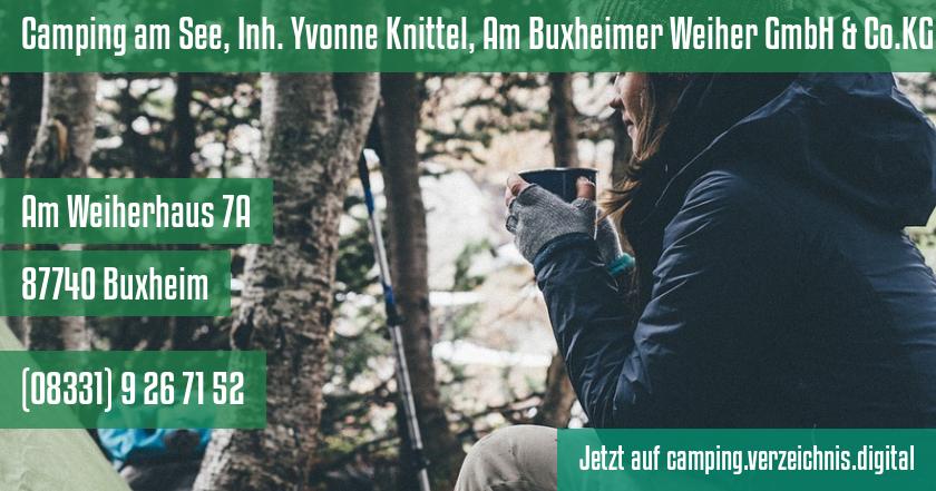 Camping am See, Inh. Yvonne Knittel, Am Buxheimer Weiher GmbH & Co.KG auf camping.verzeichnis.digital