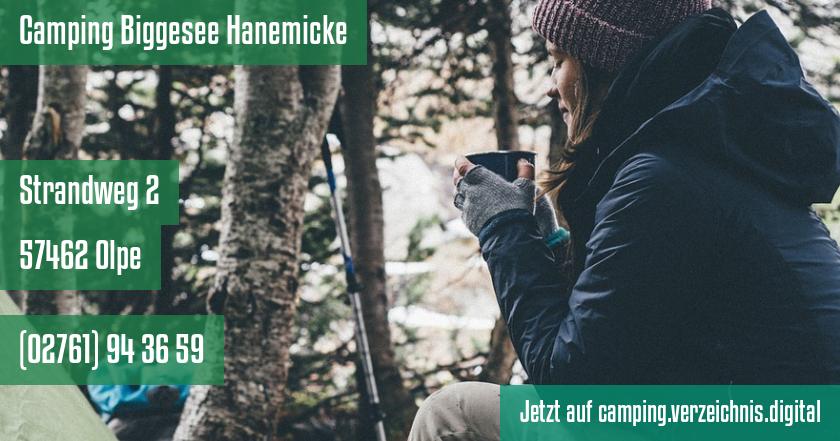 Camping Biggesee Hanemicke auf camping.verzeichnis.digital