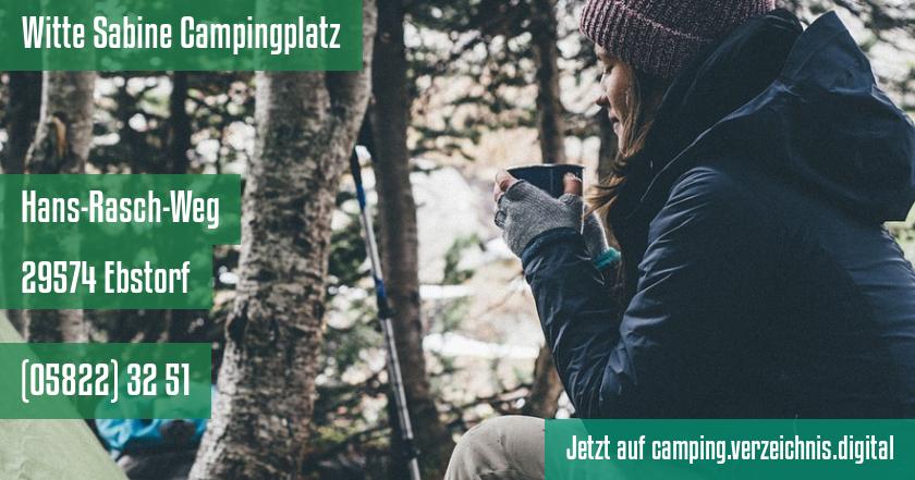 Witte Sabine Campingplatz auf camping.verzeichnis.digital